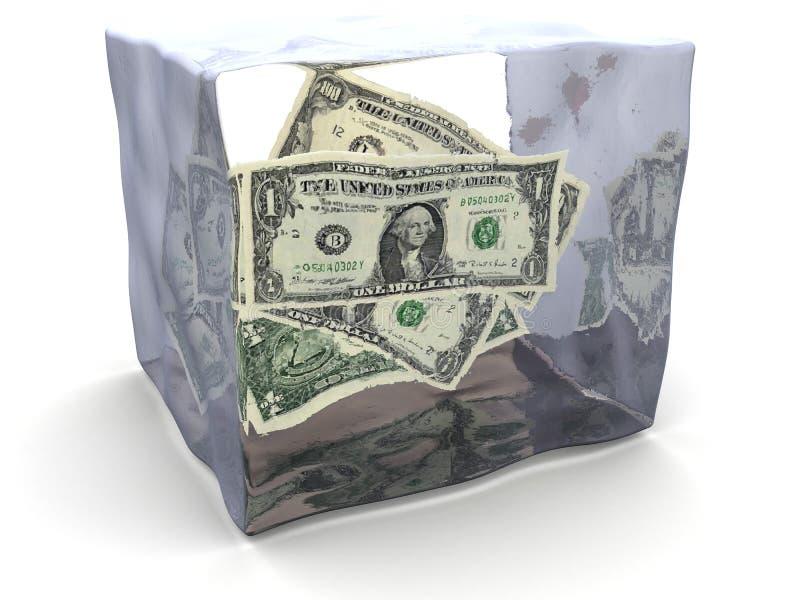 argent figé illustration de vecteur