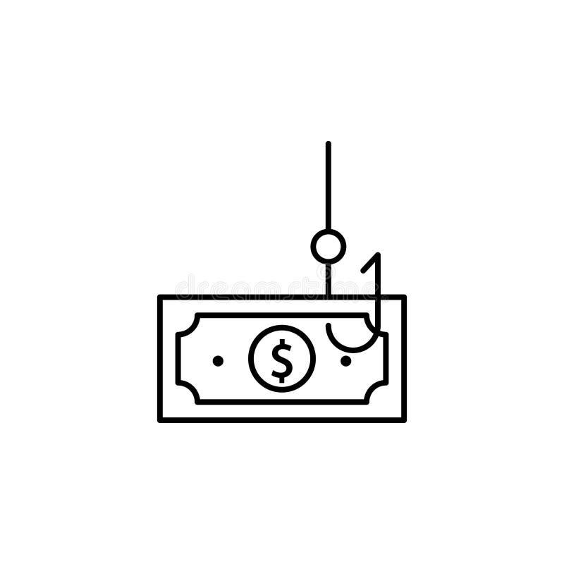 Argent, icône de tige Élément de ligne icône de comportement du consommateur illustration libre de droits