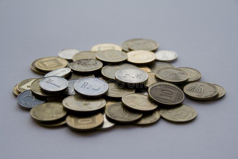 argent israélien photographie stock