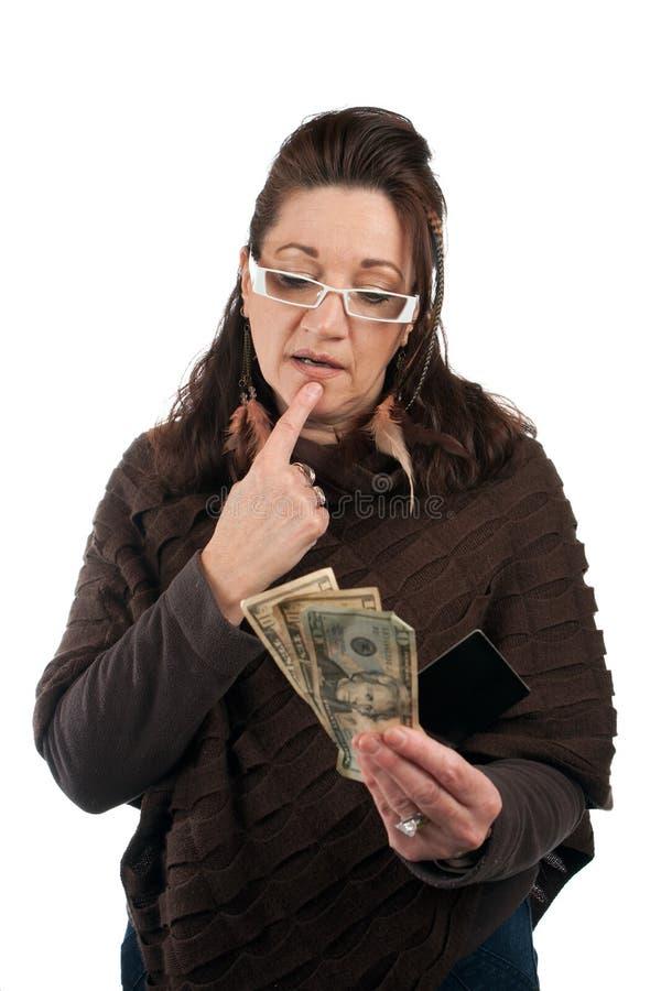 Argent liquide ou crédit photo stock