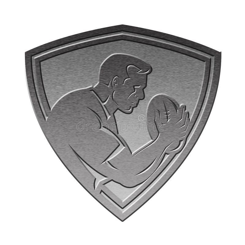 Argent m tallique d 39 cran protecteur de joueur de rugby illustration stock illustration du - Dessin de joueur de rugby ...
