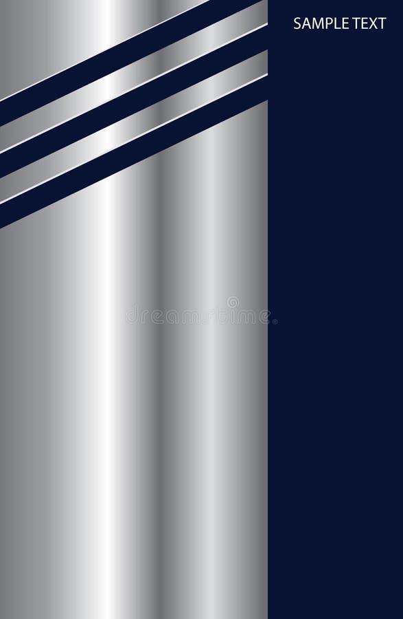 Argent métallique de fond d'affaires illustration stock