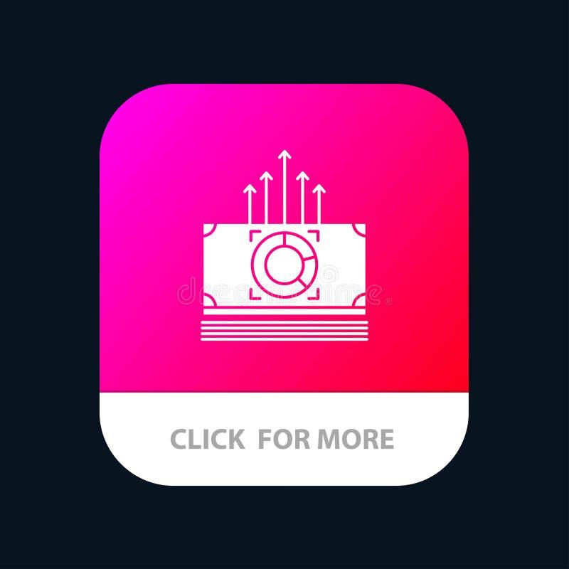 Argent, paquet, mâles, bouton mobile d'appli de transfert Android et version de Glyph d'IOS illustration stock