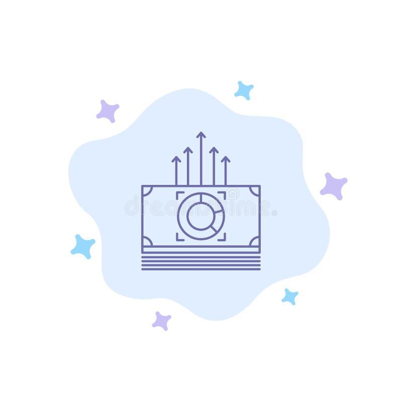 Argent, paquet, mâles, icône bleue de transfert sur le fond abstrait de nuage illustration de vecteur