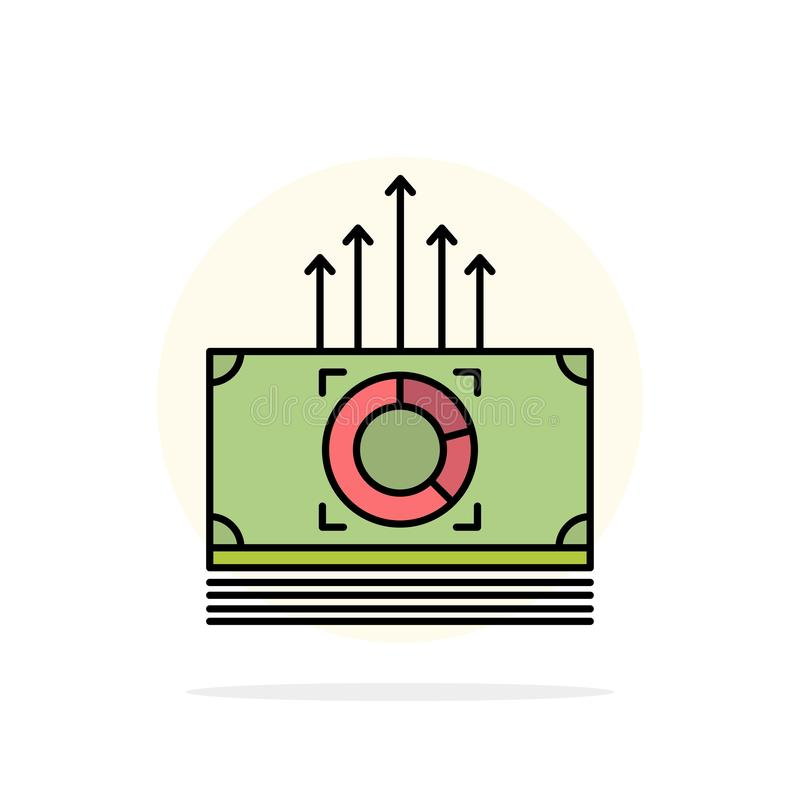 Argent, paquet, mâles, icône plate de couleur de fond de cercle d'abrégé sur transfert illustration stock