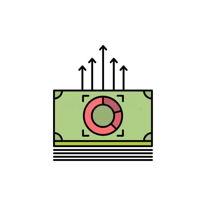 Argent, paquet, mâles, icône plate de couleur de transfert Calibre de bannière d'icône de vecteur illustration libre de droits
