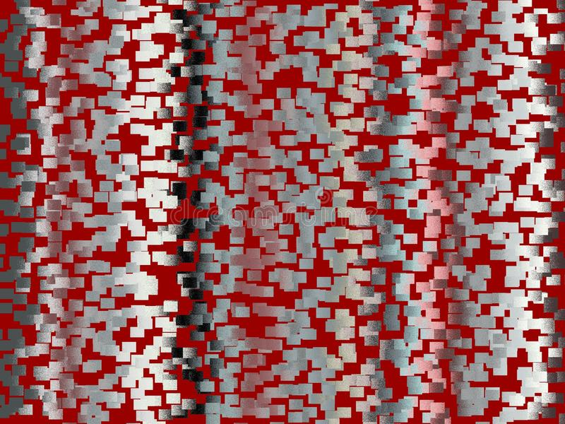 Argent rouge, formes vives, fond futuriste, formes, texture abstraite illustration stock