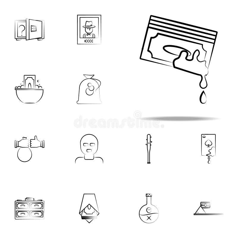argent, sang, bande, criminel, icône de Mafia ensemble universel d'icônes de Mafia pour le Web et le mobile illustration de vecteur