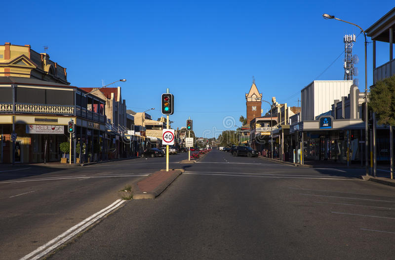 Argent Street, Broken Hill, Australia. Argent Street in the mining city of Broken Hill in outback New South Wales, Australia royalty free stock photo