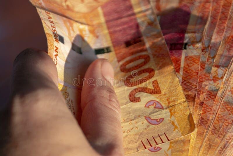 Argent sud-africain image libre de droits