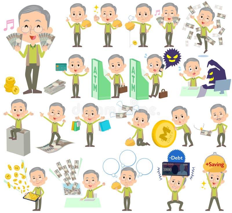 Argent vert de grand-père de gilet illustration libre de droits