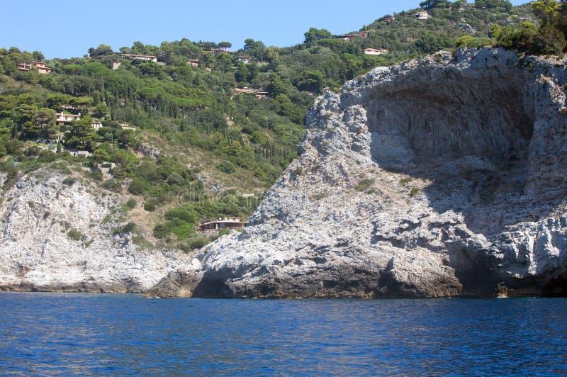 argentario brzegowy skalisty Tuscany zdjęcia stock