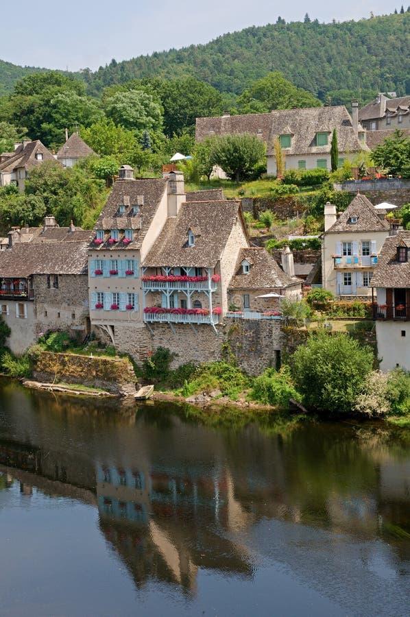 Argentat, Frankrijk stock foto's