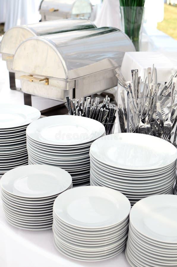 Argenteria e dishware fotografie stock