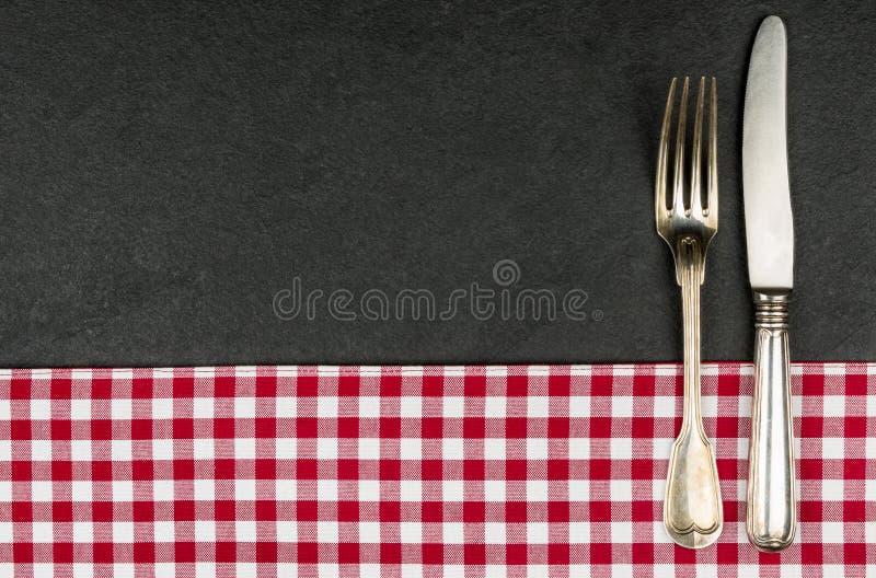 Argenterie d'un plat d'ardoise photos stock