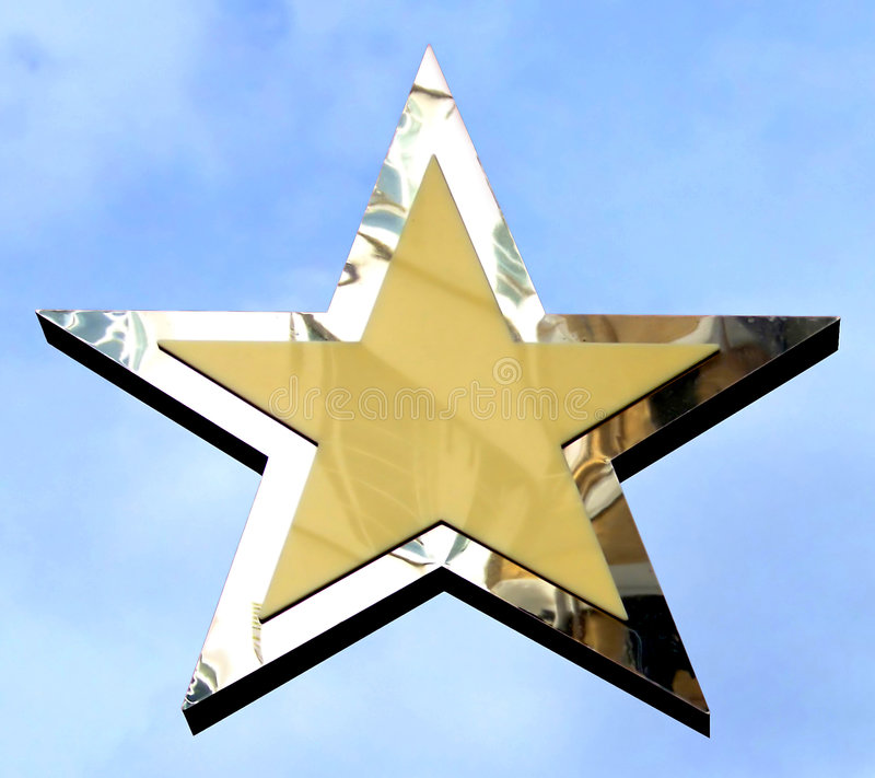 Argentez l'étoile photographie stock libre de droits
