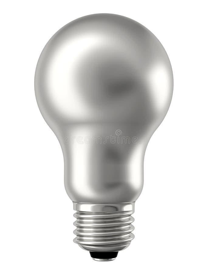 Argentez l'ampoule d'isolement sur le blanc image libre de droits
