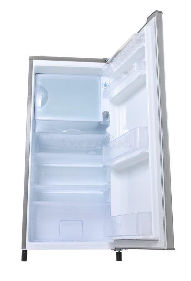 Argenti il frigorifero aperto immagine stock libera da diritti