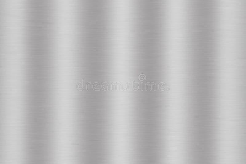 Argenti il metallo spazzolato o il fondo d'acciaio grigio di struttura illustrazione di stock