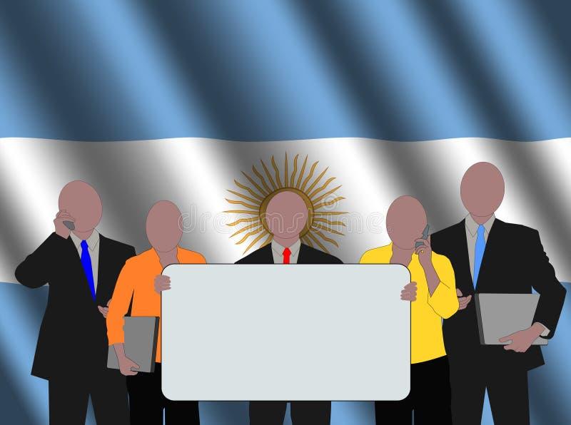 Argentijns commercieel team royalty-vrije illustratie