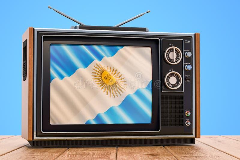 Argentijns 3D Televisieconcept, royalty-vrije illustratie