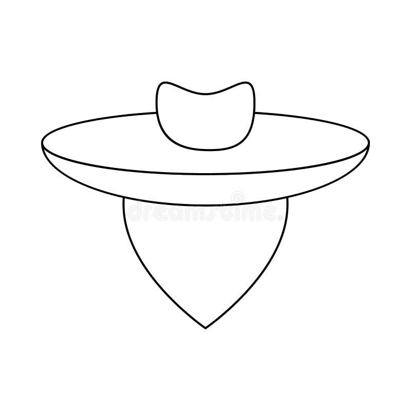 Argentijns gauchopictogram, overzichtsstijl royalty-vrije illustratie