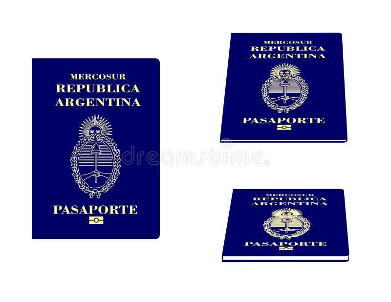 Argentijns Paspoort royalty-vrije illustratie