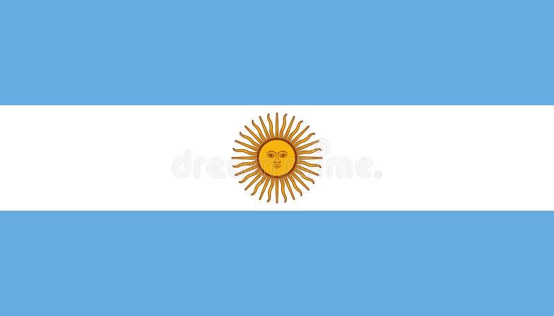 Argentijns vlagpictogram in vlakke stijl Nationale teken vectorillustratie Politiek bedrijfsconcept royalty-vrije illustratie