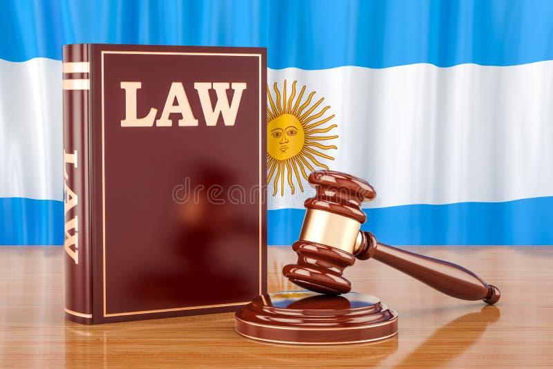 Argentijns wet en rechtvaardigheidsconcept, het 3D teruggeven royalty-vrije illustratie