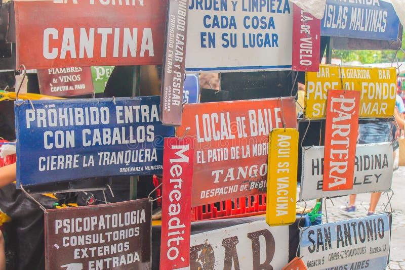 Argentijnse Afficheswinkel Oud Argentinië royalty-vrije stock afbeelding