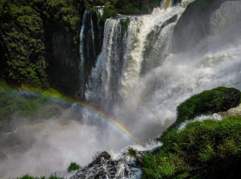 Argentijnse Kant van de Iguassu-Dalingen, van het Nationale Park van Iguazu, stock afbeeldingen