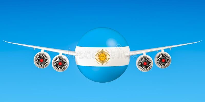 Argentijnse luchtvaartlijnen en het vliegen ` s, vluchten aan het concept van Argentinië 3 vector illustratie