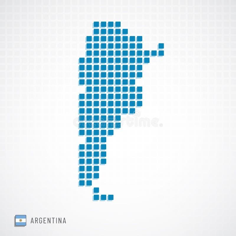 Argentina översikt och flaggasymbol royaltyfri illustrationer