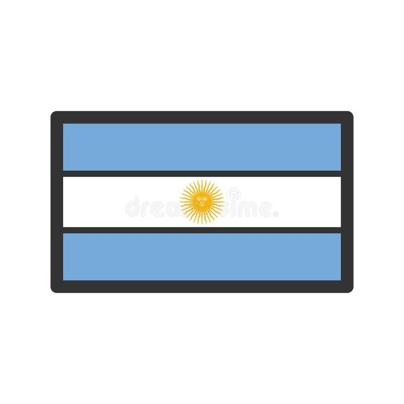 argentina ilustração do vetor