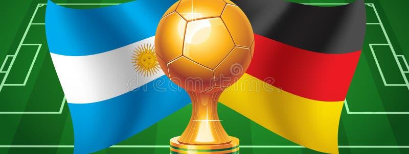 Argentina Alemanha ilustração royalty free