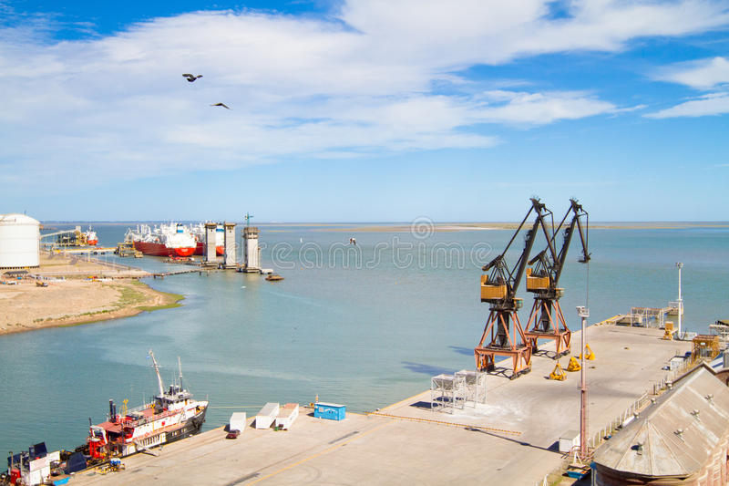 argentina bahia blanca-port arkivfoton
