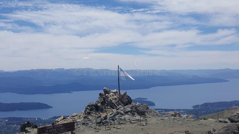 Argentina barilochelandskap royaltyfri bild