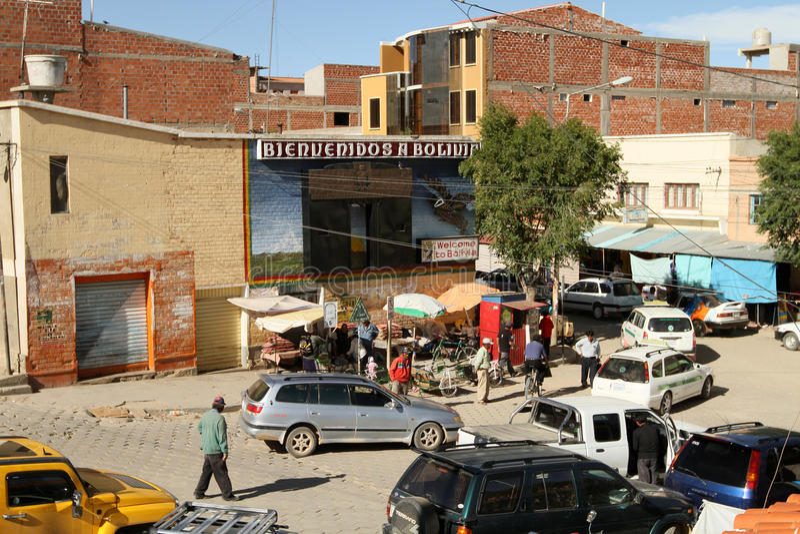 Argentina-Bolivian border stock image