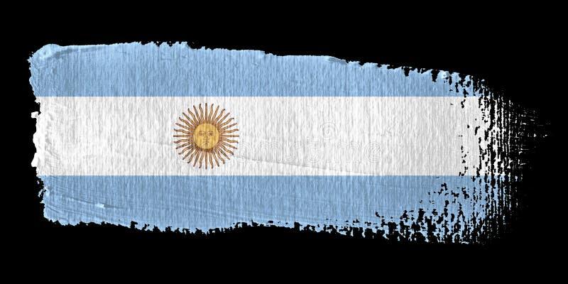 argentina brushstroke flaga royalty ilustracja