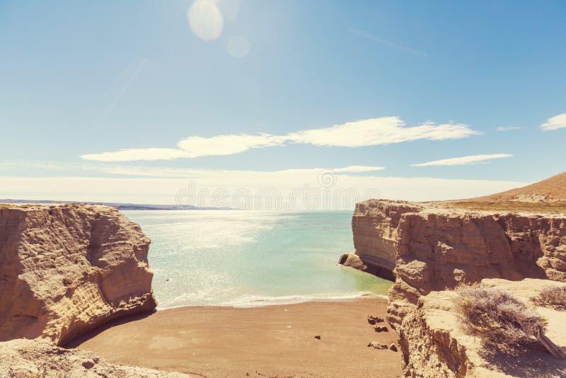 Argentina coast stock image