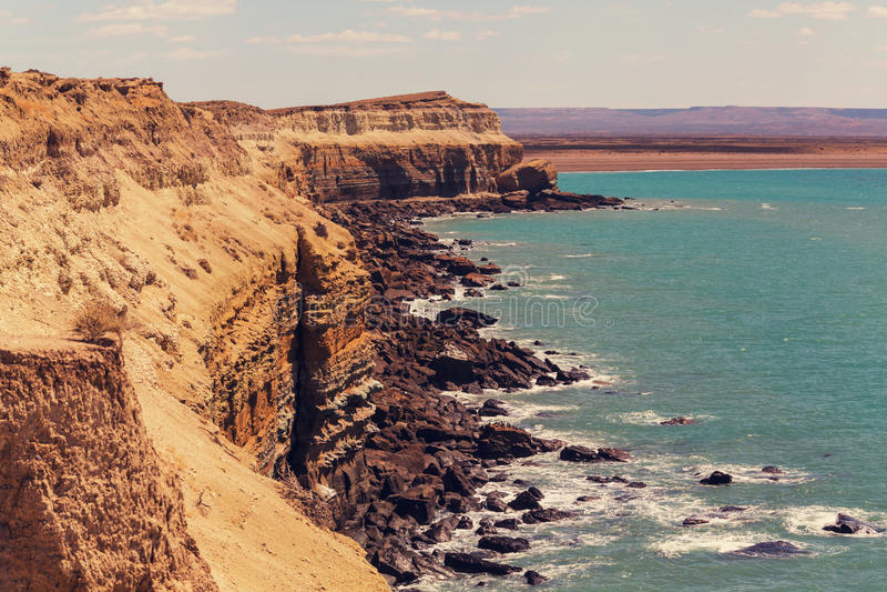 Argentina coast royalty free stock images
