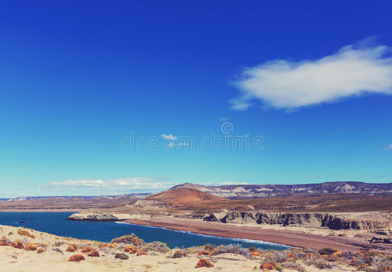 Argentina coast stock photo
