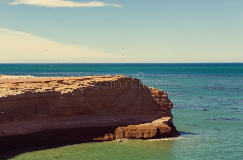 Argentina coast stock photography