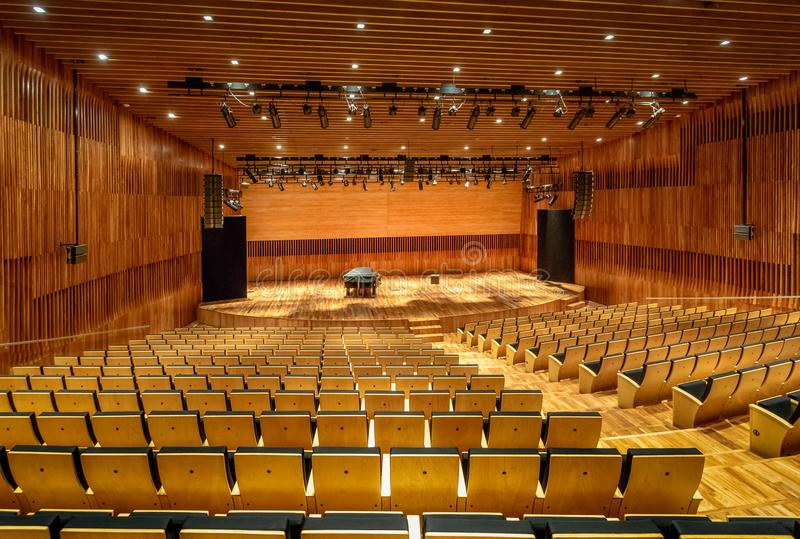 Argentina Concert Hall of Kirchner Cultural Centre Centro Cultural Kirchner CCK - Buenos Aires, Argentina. Buenos Aires, Argentina - May 19, 2018: Argentina royalty free stock photos