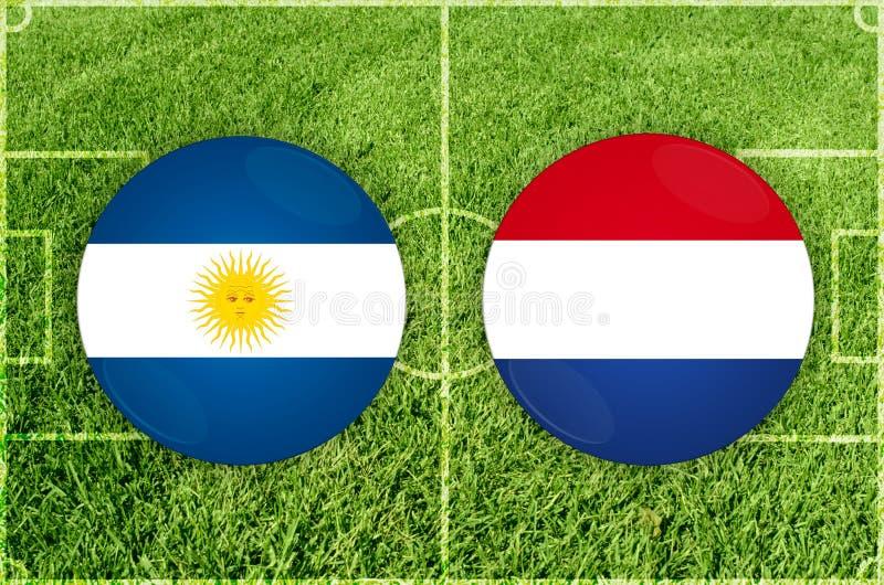 Argentina contra o fósforo de futebol de Paraguai ilustração stock