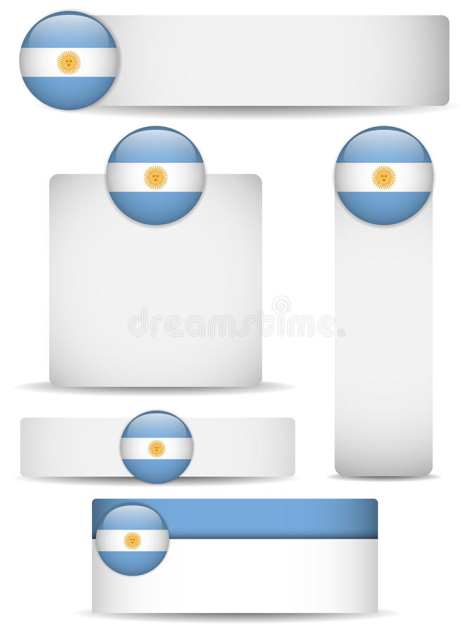 Download Argentina Country Set Of Banners Stock Vector - Illustration of illustration, card: 24862606