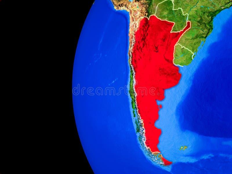 Argentina do espaço ilustração do vetor