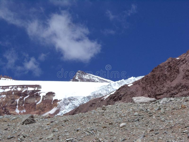 Argentina - Famous peaks - Hiking in Cantral Andes - Peaks around us - Alma Negra. Argentina - Hiking in Central Andes -Famous Peaks - Peaks around us - Alma royalty free stock photography