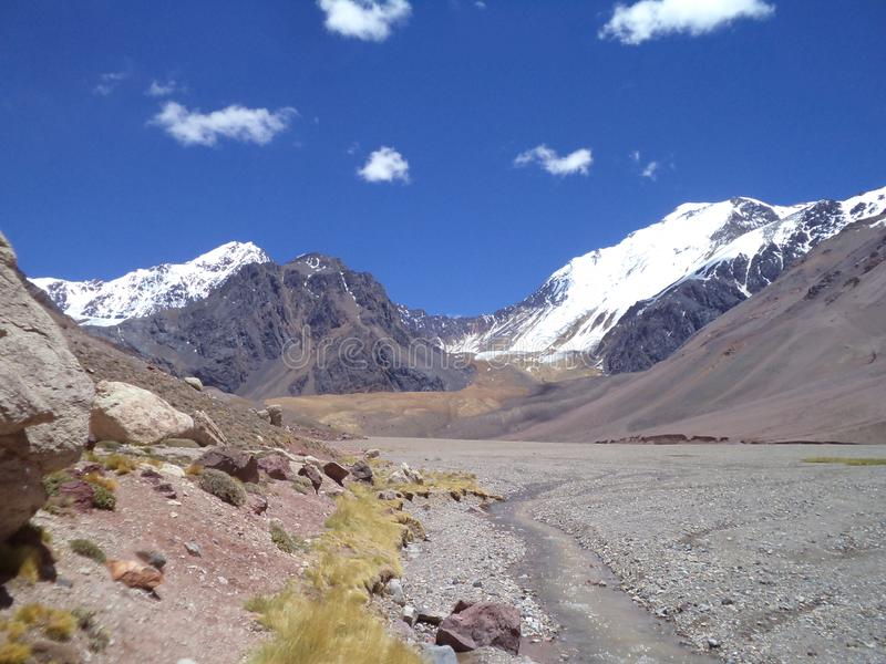 Argentina - Famous peaks - Hiking in Cantral Andes - Peaks around us. Argentina - Hiking in Central Andes -Famous Peaks - Peaks around us royalty free stock photo