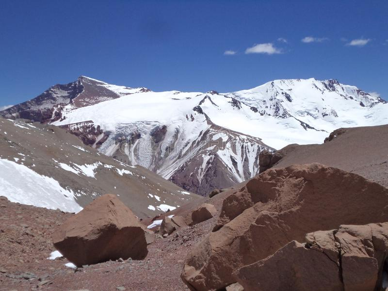 Argentina - Famous peaks - Hiking in Cantral Andes - Peaks around us. Argentina - Hiking in Central Andes -Famous Peaks - Peaks around us stock image